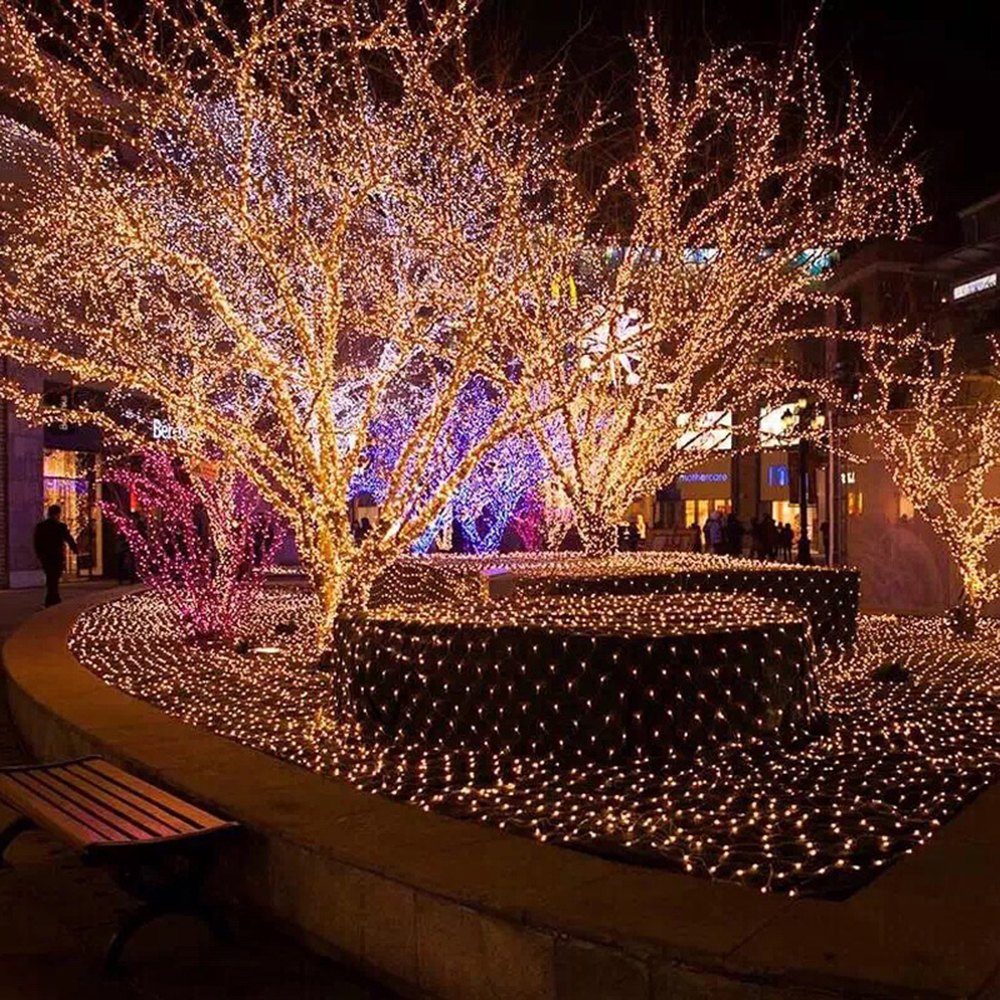 Light Tree Led String Lights 100Leds With EU/US Plug For Christmas Tree House Courtyard Party Garden Holiday Decor Lantern Q