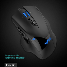 HAVIT Programmable Gaming Mouse Wired USB 19 Buttons 12000DPI LED High-Precision Optical Gamer Mouse For Video Game HV-MS735