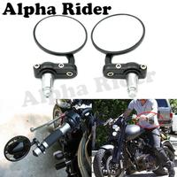 Motofans Pair Motorcycle CNC Aluminum Rearview Mirror 7 8 22MM Handle Bar End Side Mirrors For