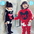 autumn style longsleeved clothing set baby girl and boys clothes sport mini clothes