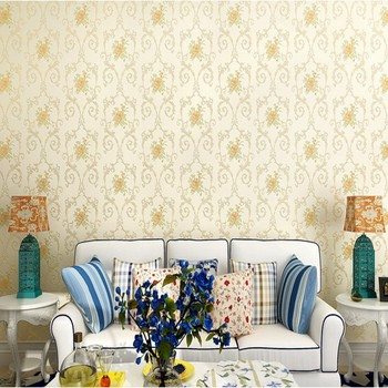 Romantic Fresh Pastoral European Style Wallpaper Bedroom Living Room Wedding Room Non-woven Pink Flower Wallpaper