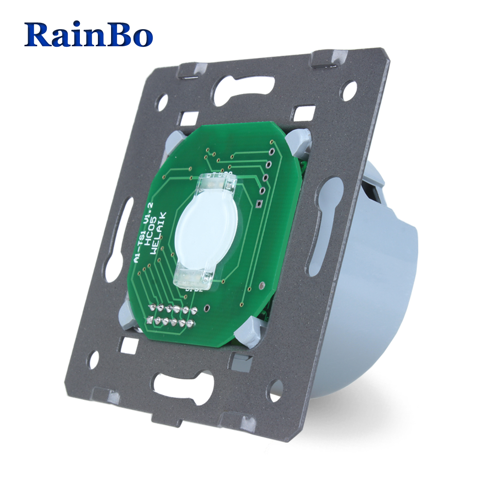 Rainbo Touch Switch DIY Parts Manufacturer Wall Switch EU Standard Touch Screen Wall Light Switch 1gang1way 250V 5A A911 manufacturer 2017 eu standard touch switch 2 gang 2 way control wall light switch os 02s 5 in grey color