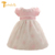 Twinsbella bebé vestidos de navidad para las muchachas lindas del bautizo de la muchacha floral dress baby girl dress vestido infantil cumpleaños 1 años