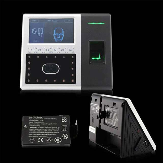 US $564 05 |ZK Arabic iFace302 face & fingerprint time attendance access  control with back up battery backup battery last 3 to 5 hours CE on