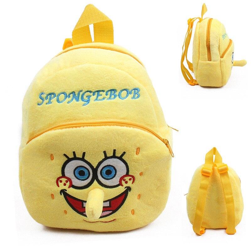 Spongebob Schoolbag Baby Mini Plush Backpack Children' Mochila Bags Kids School Bag For Birthday Christmas Gift