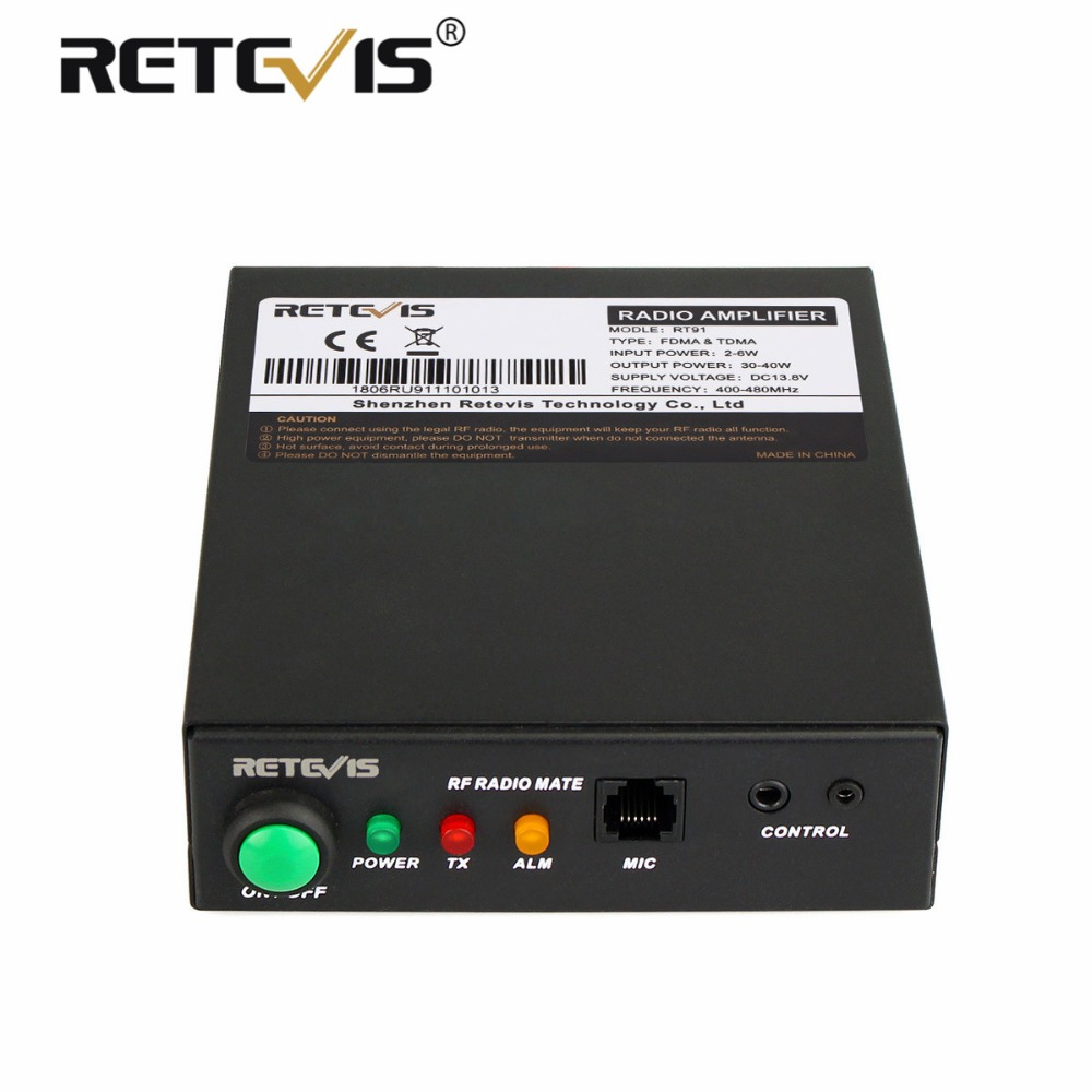 Retevis RT91 Talkie Walkie Amplificateur de Puissance RF VHF (ou UHF) pour Kenwood Baofeng DMR Numérique/Analogique De Poche Transceiver Ham Radio
