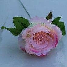 22 цвета DIY одиночная Роза 9 см большая Шелковая Роза искусственная цветы белый красный розовый персик фиолетовый желтый Шампань синий оранжевый