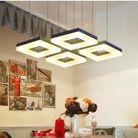 Кухня современные 4 6 шт. LED Открытый Подвесные Светильники бар кабинет светодиодные полосы блеск Чтение свет Конференц зал, офисные коммерч