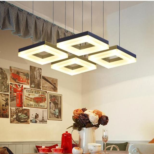 Cucina moderna 4 6 pz led lampade a sospensione bar sala studio ha ...