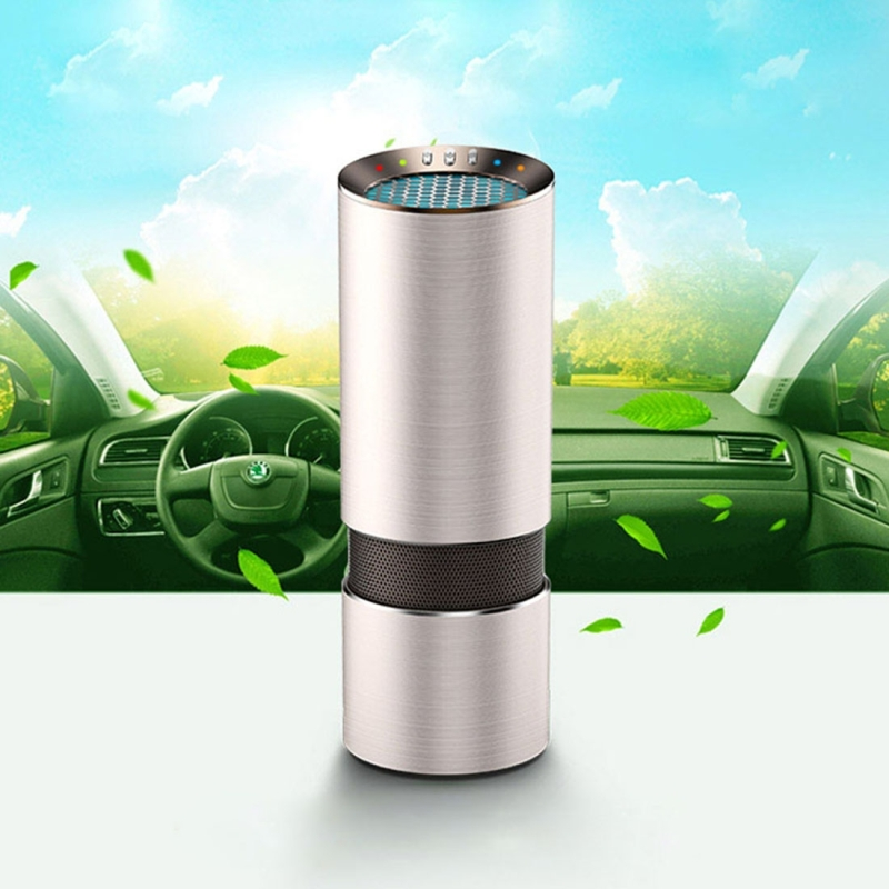 цена на DC 12V Auto Car Freshener Air Ionic Purifier Oxygen Bar Ozone Ionizer Cleaner Sterilizer
