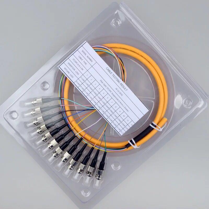 12 Core ST 1.5M Single Pigtail Fiber Optic Pigtail