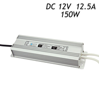 2pcs/lot 12V 12.5A 150W Waterproof Transformers Driver for LED Strip AC 220 240V To DC12V Switching Power Supply IP67