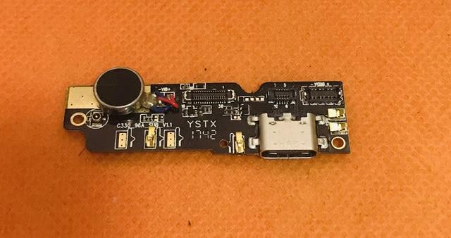 """Б/у оригинальная USB зарядная плата + вибромотор для Blackview P6000 Helio P25 Octa Core 5,5 """"FHD Бесплатная доставка"""