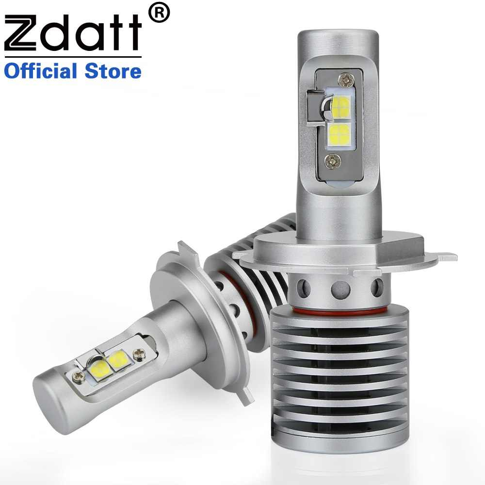 Zdatt 2PC High Power H4 Led Bulb 100W 14600LM Auto Headlights H4 H8 H9 H11 9005 HB3 9006 HB4 Car Led Light 12V Automobiles 6000K