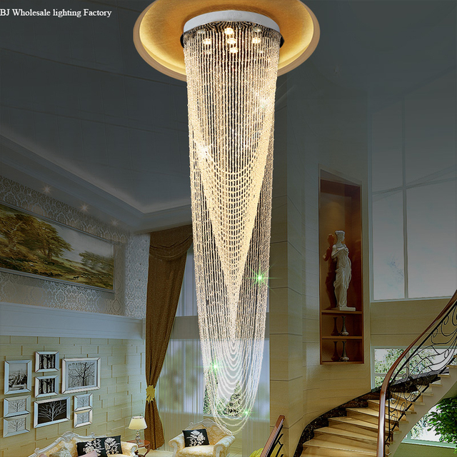 Modern Lobby Design Large Chandelier Best Price Luxury Crystal Designer Chandeliers High Ceiling Lighting Elegant
