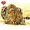 Unframed DIY Painting By Numbers Leopard Animals Acrylic Picture Wall Art Canvas Painting Home Decor Unique