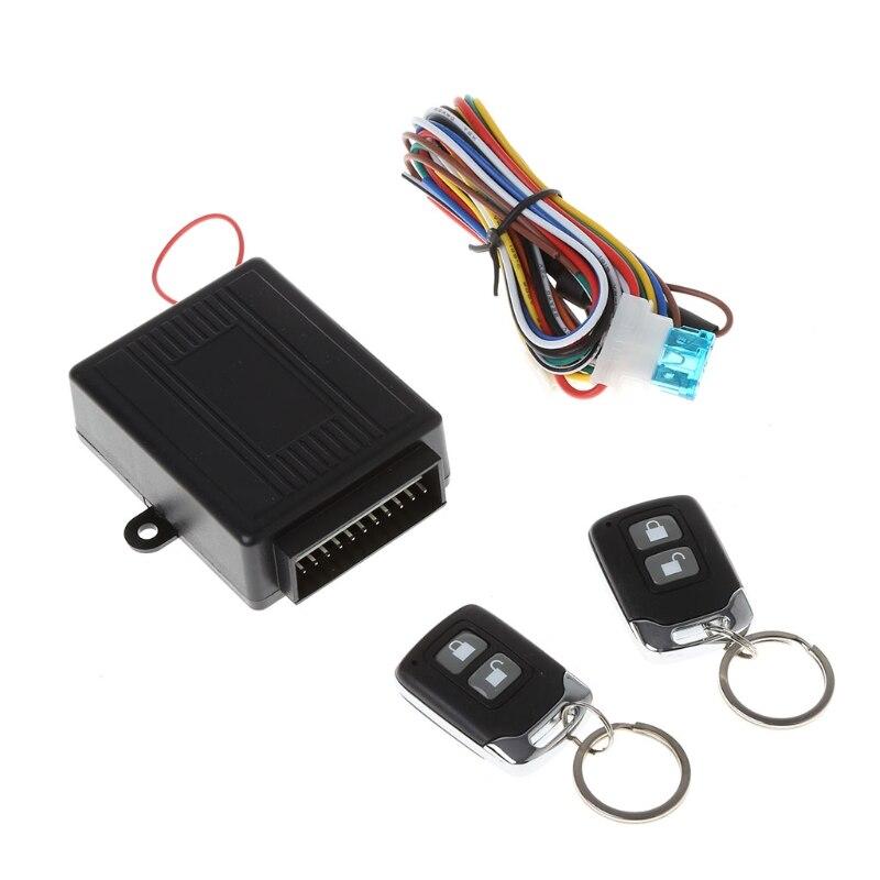 QILEJVS Car Alarm System Auto Remote Central lock Kit Door Lock Keyless Entry System