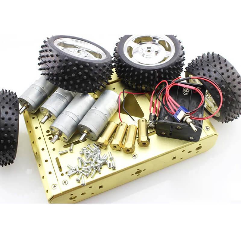 Elecrow Haute Qualité Robot Intelligent Prédateur 4WD Métallique Mobile Plate-Forme DIY De Voiture Kits Électronique Automatique DIY Kit