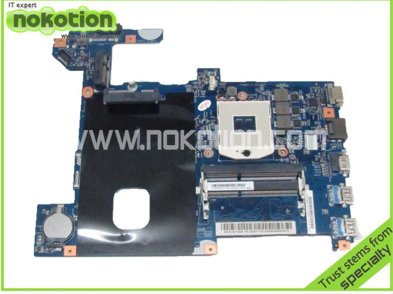 NOKOTION   48.4SG06.011 55.4SH01.011 Laptop Motherboard for lenovo G580 HM76 ddr3 Mainboard brand new for lenovo b470 laptop motherboard 48 4kz01 021 mainboard