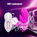 10 Velocidad de Vibración Dual Sin Tirantes Invisible Shell Correa en Consolador Strapon Vibrante Penties Punto G Vibradores de Estimulación Del Clítoris