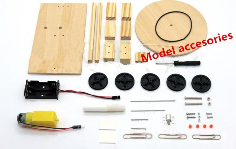 Happyxuan DIY Listrik Plotter Menggambar Robot Kit Fisika Ilmiah - Mainan bangunan dan konstruksi - Foto 2