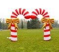 X148 Frete grátis 12ft H Inflável Bastão de Doces para quintal Decoração enfeites de Natal para um pc