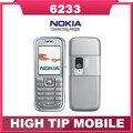 Оригинальный разблокированный телефон Nokia 6233 с bluetooth, mp3, камерой 2MP. Восстановленные. Один год гарантии. Бесплатная доставка