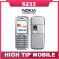 6233 Original Nokia Unlocked 6233 cell phone bluetooth mp3 2MP player  One Year Warranty Refurbished freeship