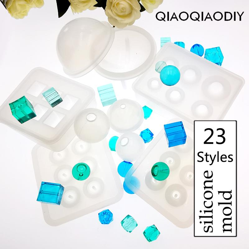 1PC Beads Combination Craft DIY Transparent UV Resin epoxy Silicone Combination Molds For DIY Making Finding Accessories Jewelry