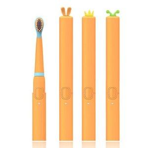 Image 2 - を SEAGO 子供の漫画電動歯ブラシ子供かわいいソフトデュポン毛防水充電式超 sonic sonic 歯ブラシ EK9