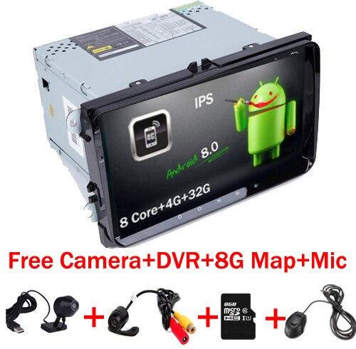 Android 8.0 voiture lecteur multmedia GPS pour Volkswagen VW Golf 5 6 passat CC B6 B7 polo Skoda Seat Leon radio MK5 MK6 Wifi Stéréo
