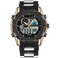 Luxury Brand Men Sports Relojes Dual Display Analógico Digital LED Electrónico Relojes de pulsera de Cuarzo relojes Reloj Militar A Prueba de agua
