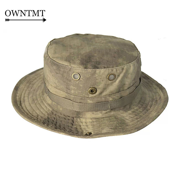 a6dc30cc1df Tactical Airsoft Sniper Camouflage Boonie Hats Nepalese quick-drying Cap  Militares Army Men American Military Accessories Hiking