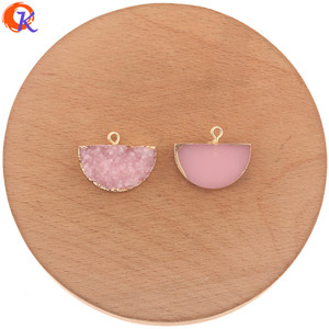 Image 5 - Cordial Design 50Pcs 18*23MM Jewelry Accessories/Resin Charms/Semicircle Shape/DIY Earrings Making/Hand Made/Earring Findings