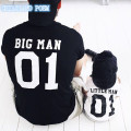 2017 family matching outfits short sleeve family look big man little man T shirt faher and son clothes family matching clothes