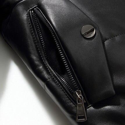 KMETRAM 2019, высокое качество, кожаный пуховик, мужской, роскошный, натуральная кожа, мужские s 100%, овчина, зимняя куртка, черный, 4XL, куртка, HH509 - 6