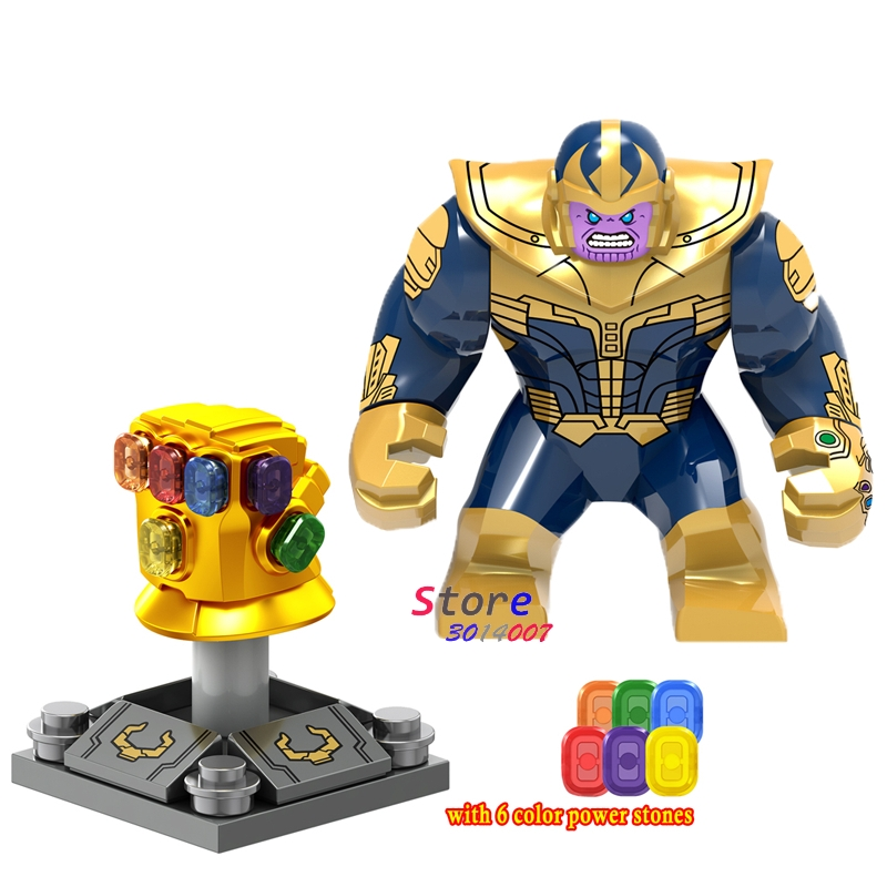 50pcs Marvel Avengers 3 Infinity War Infinity Gauntlet With Stones Thanos Iron Man Vision Wasp building
