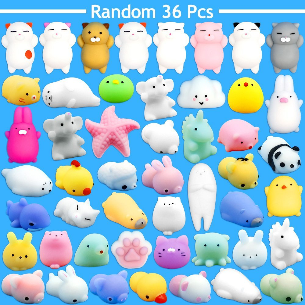 36pcs Dropshipping Cute Mochi Squishy Cat Slow Rising Squeeze Healing Fun Kids Kawaii Kids Adult Toy Stress Reliever Decor