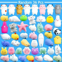 36pcs Dropshipping Cute Mochi Squishy Cat slow rising Squeeze Healing Fun Kids Kawaii kids Adult Toy Stress Reliever Decor cute mochi squishy tpr cat healing fun kids kawaii squeeze toy stress reliever decor stres