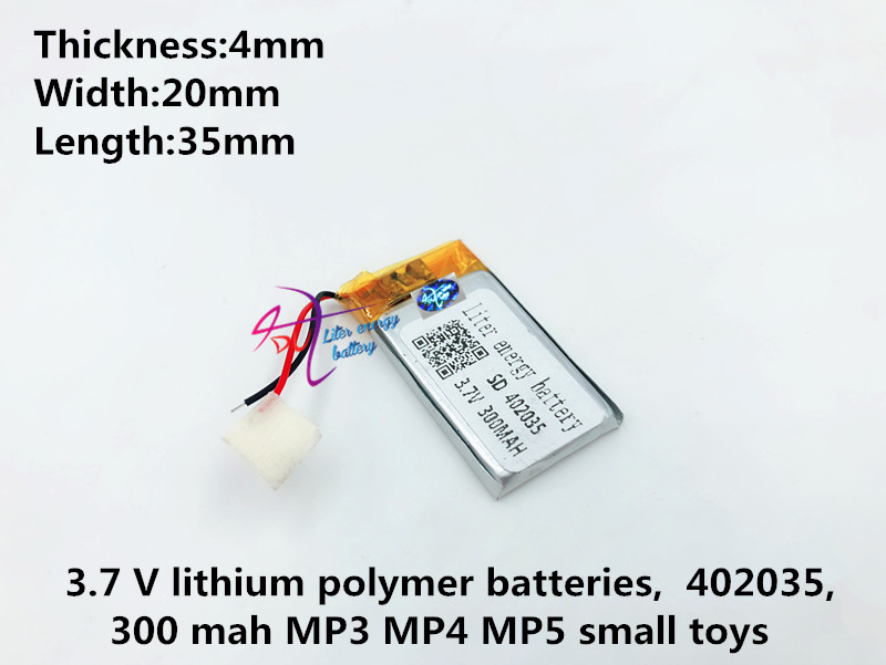 Liter energy <font><b>battery</b></font> 3.7V 300mAH <font><b>402035</b></font> Polymer lithium ion / Li-ion <font><b>battery</b></font> for TOY POWER BANK GPS image