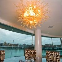 Led Bron 100% Handgeblazen Borosilicaatglas Dale Chihuly Garantie Clear Hot Koop Kroonluchter Home Deco