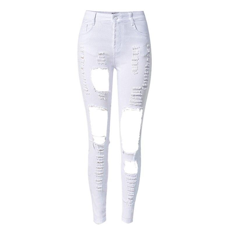 2016 Stretch Skinny Jeans Woman Waist High Waist Fashion Hole Plus Size Boyfriend Jeans Women Robin Jeans New Arrival S1560