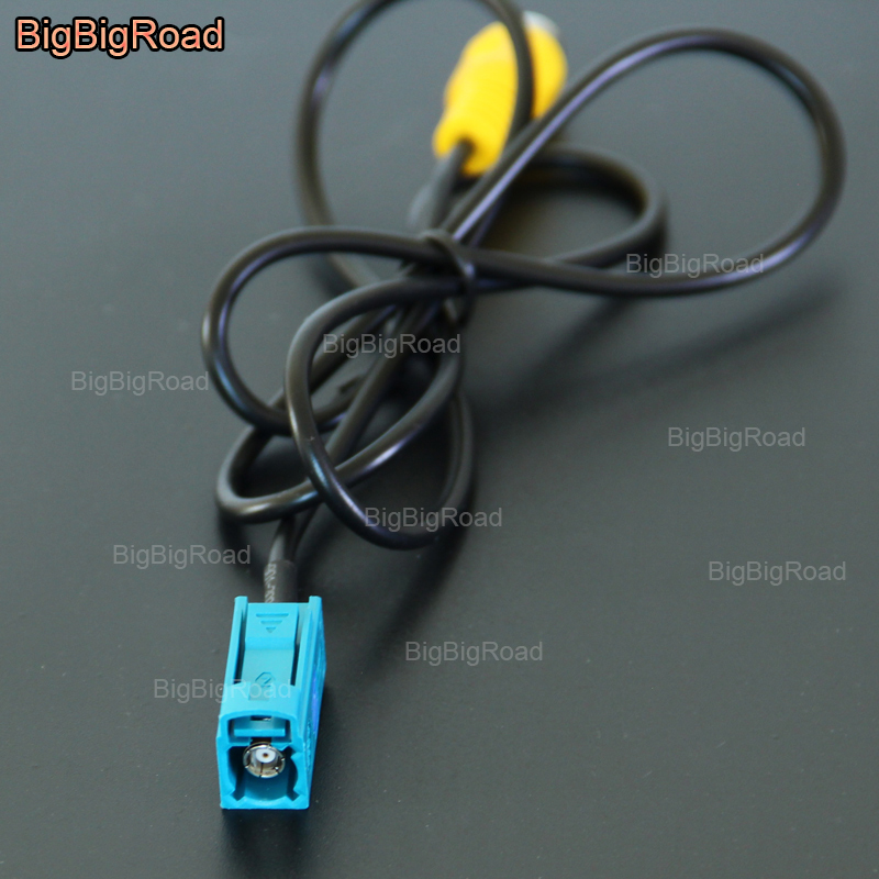 BigBigRoad For Mercedes Benz E Series W212 W207 C207 W213 / C Seires W204 Car RCA Adapter Connector Wire Cable Rear View Camera