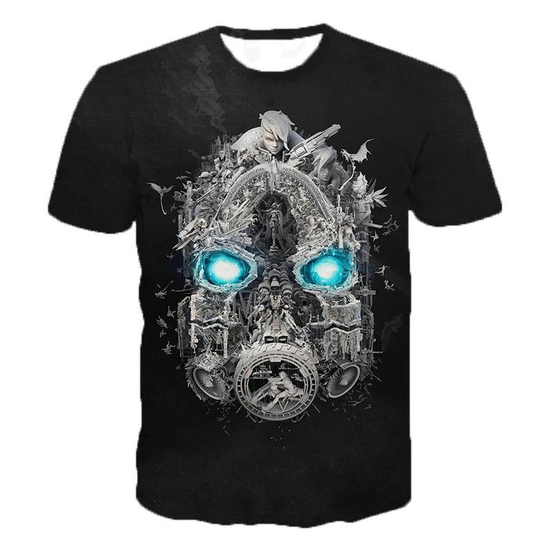 Game T Shirts Borderlands 3 3D Printed T-shirts Men Fashion Summer Fashion T Shirts Game Personality Print T Shirt 2XS-5XL