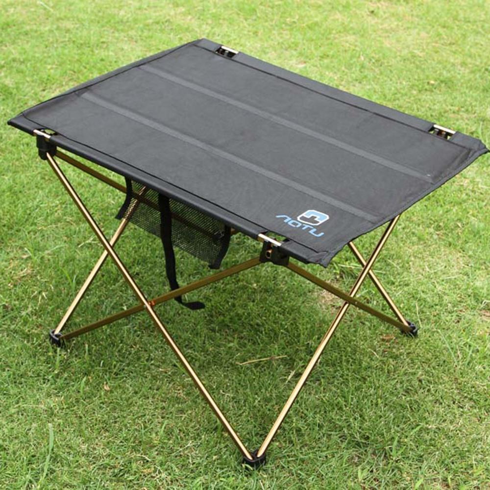 outdoor folding table camping aluminium alloy picnic table waterproof ultralight durable folding table desk