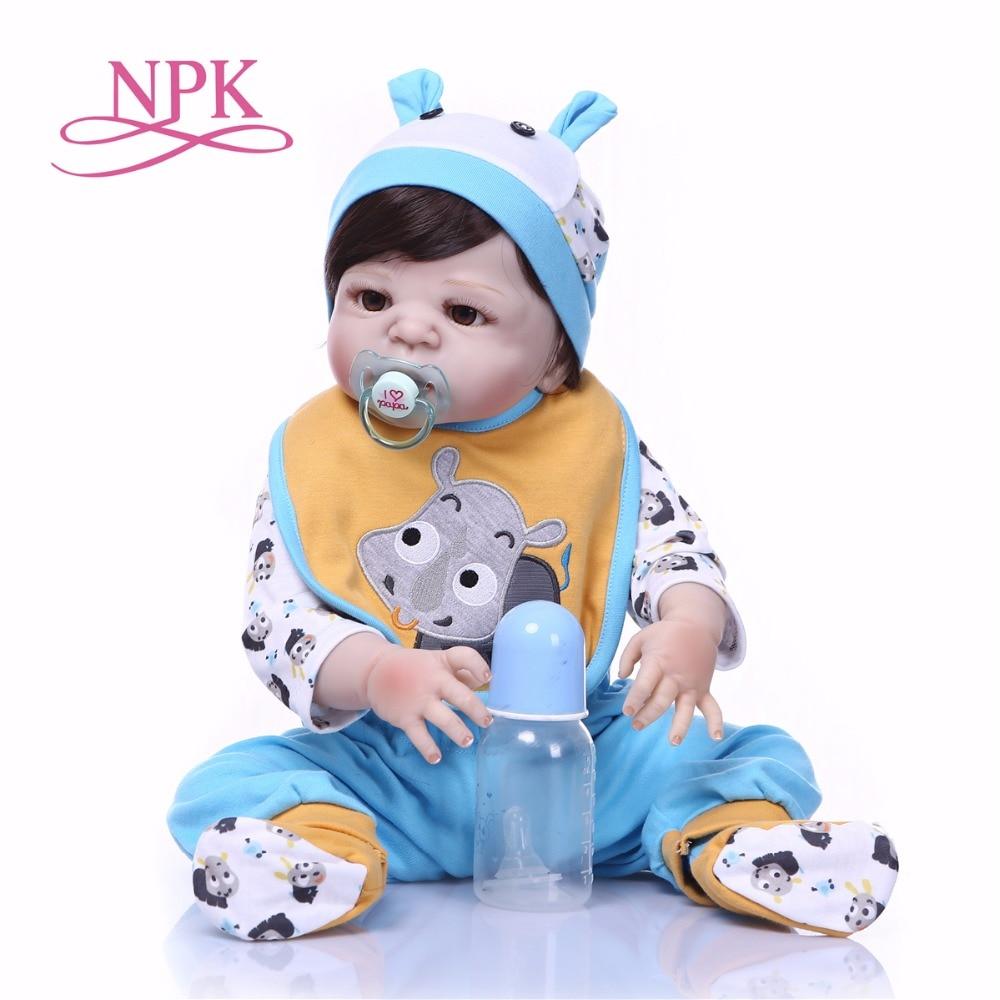 NPK Boneca Reborn blue little rhino Full Vinyl Reborn Baby Doll Toys Lifelike Child Birthday Xmas