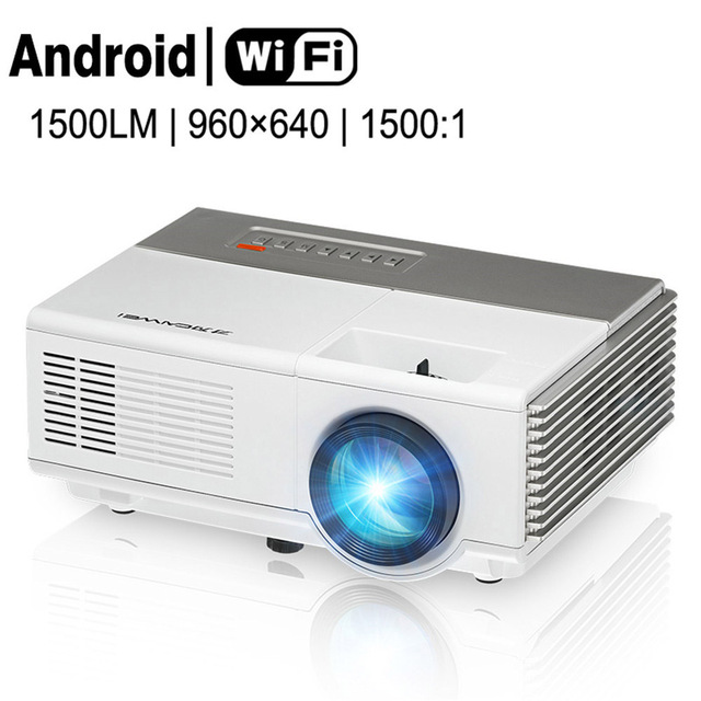 ad7bf02f72c4ed CAIWEI 1500lm 1080p HD LED Mini Projector Portable WiFi Android Home Movie  Video AV HDMI PC