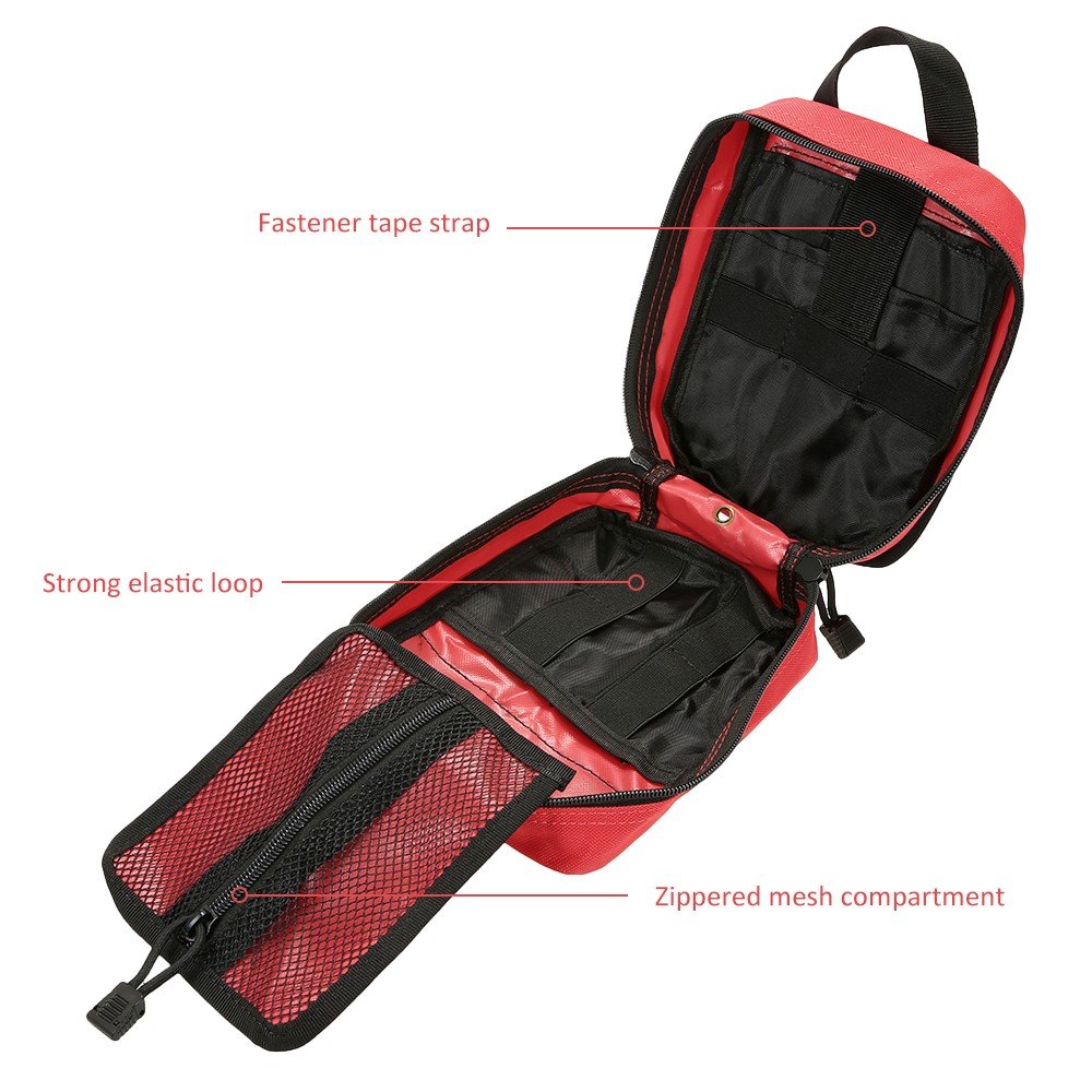 Outdoor MOLLE Medical Pouch First Aid Kit Utility Bag Emergency Survival First Responder Medic Bag in Emergency Kits from Security Protection