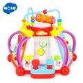 HOLA 806 Baby Spielzeug Musical Aktivität Cube Spielzeug Lernen Pädagogisches Spiel Spielen Center Spielzeug mit Lichter & Sounds Spielzeug für kinder