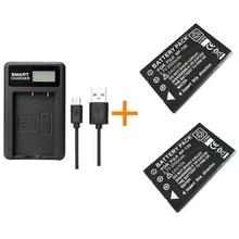 Fuji batterie avec chargeur, 2 pièces, batterie 2000 mAh, 120 pour Fuji, NP120, Pentax, DL17, Kyocera, BP1500,